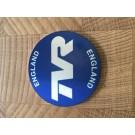 TVR naafdop logo, blauw, zelfklevend